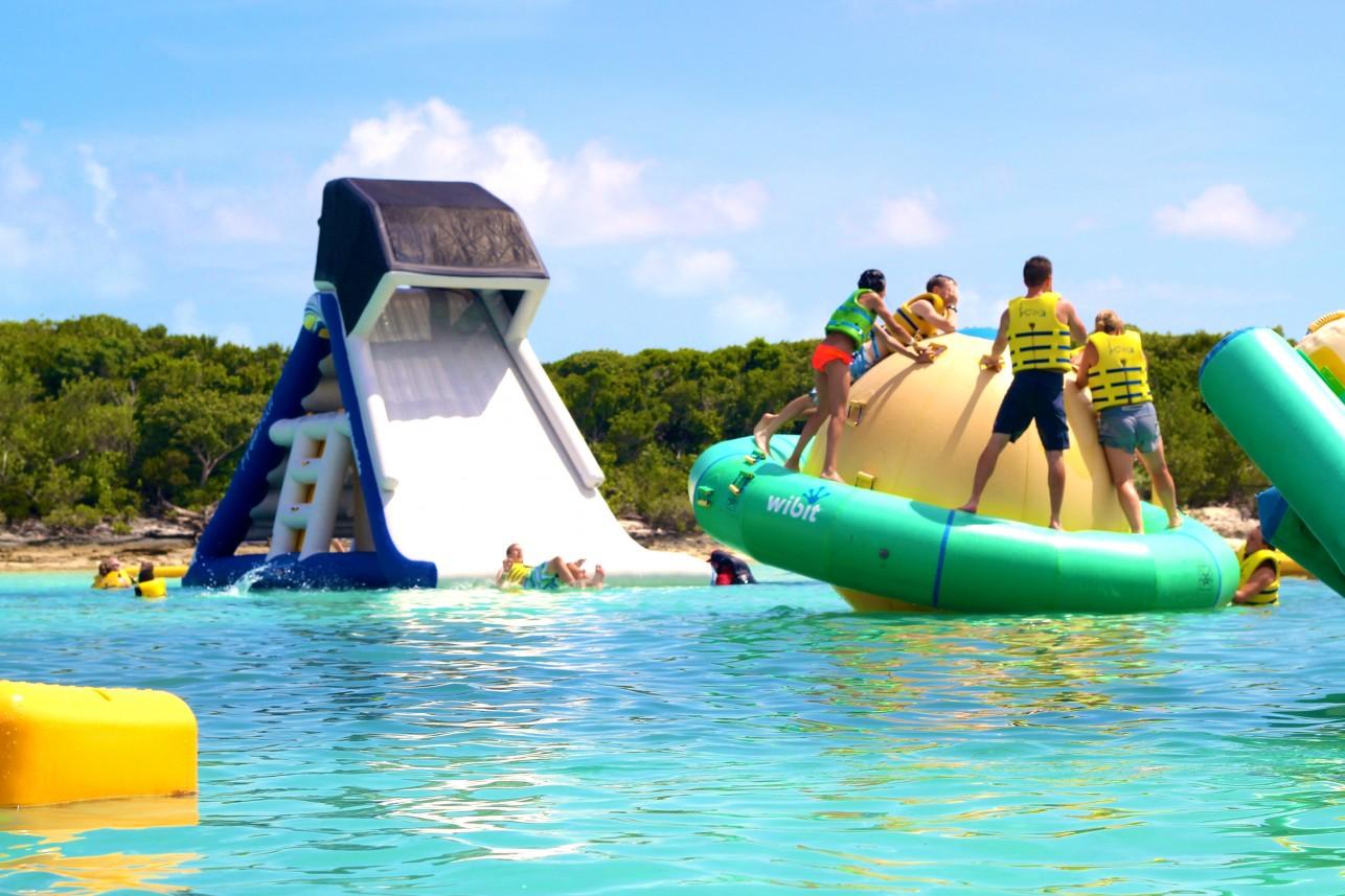 slide and aqua park